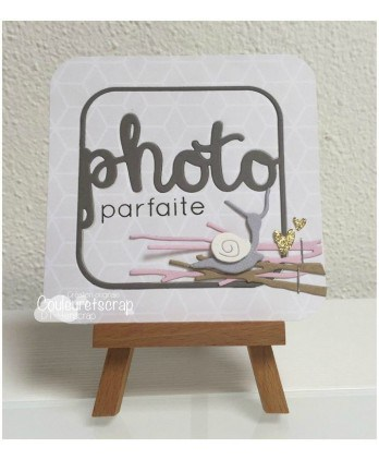 Matrice de coupe Scrapbooking Carterie mot cadre - Photo