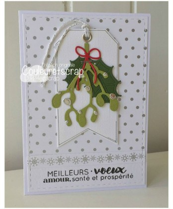 Cutting die Scrapbooking Card making wishes - Mistletoe and holly