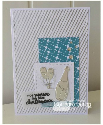 Cutting die Scrapbooking Card making drink wishes - Bottle & Co