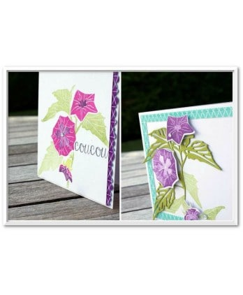 Clear stamp Scrapbooking Card Making flower fall - Colors of autumn