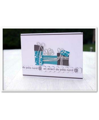 Clear stamp Scrapbooking Card Making christmas birthday tag - Live from the North Pole