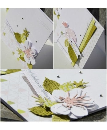 Cutting die Scrapbooking Card nature - Cherries blossoms