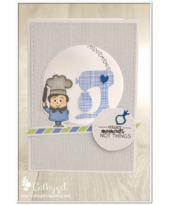 Clear Stamp Die Scrapbooking  Card Making Kitchen - Little cook