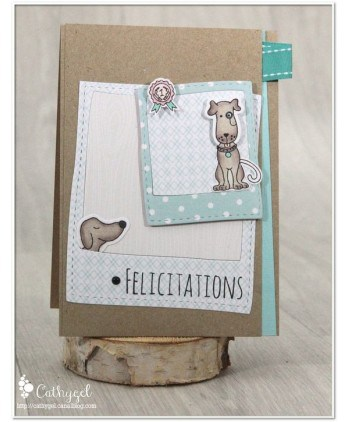 Matrice de coupe Scrapbooking Carterie niche os animal - Chiens