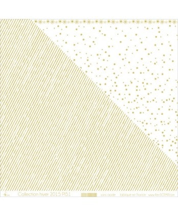 "Printed ""Gold Stripes on White Background"""