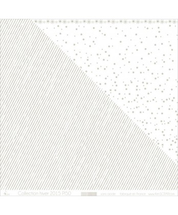 "Printed ""Silver Stripes on White Background"""