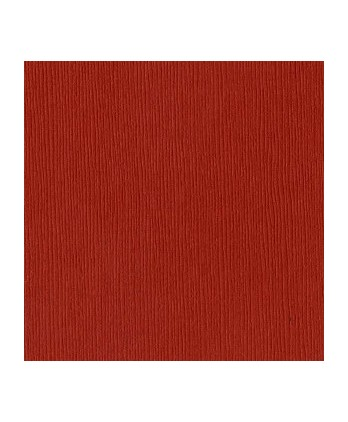 Papier Uni Scrapbooking Carterie -  Bazzill Red Rock