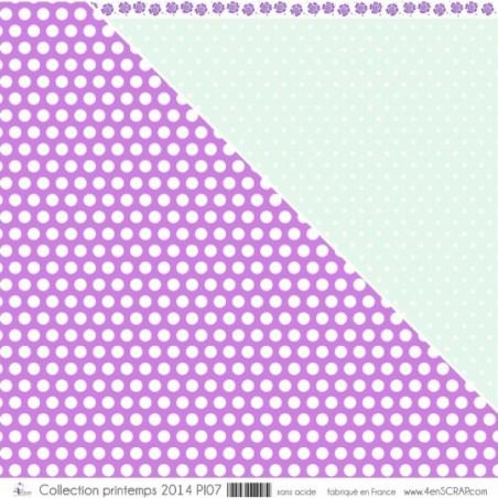 """Imprimé """"Pois de senteur violets"""""""