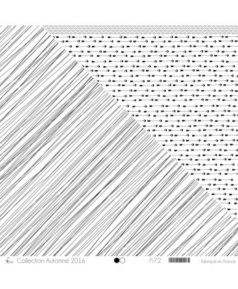 "Printed ""Entangled Black Lines on White Background"""