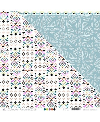 "Printed ""Multicolor Ethnic Patterns on White Background"""