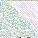 """Printed """"Apple Green, Duck Green & Orange Scribbled Triangles on White Background"""""""