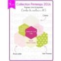 """Imprimé """"Triangles rose pâle, crème, kaki et vert pomme sur fond blanc"""""""