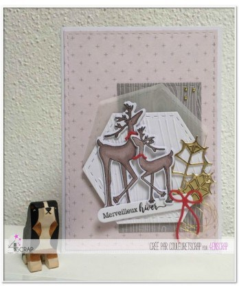 Clear stamp Scrapbooking Card Making flower reindeer - Wonderful winter