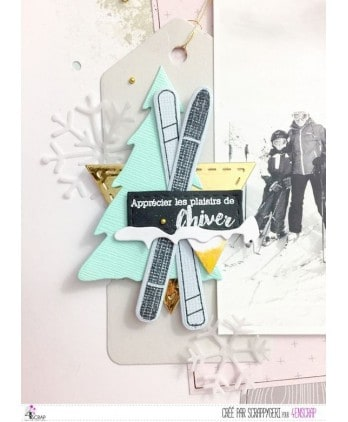Clear Stamp Die Scrapbooking  Card Making Winter - The snow-covered slopes
