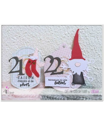Clear Stamp Die Scrapbooking  Card Making Winter - The little gnomes