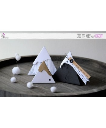 Cutting die Scrapbooking Card making gift box triangle - Triangular box 2