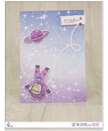 Clear stamp Scrapbooking Card Making universe space man - To infinity and beyond