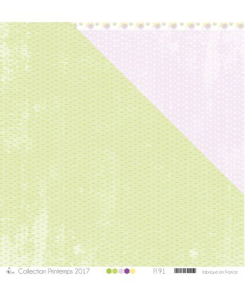 "Printed ""Small dashes apple green on a stained weadow green background"""