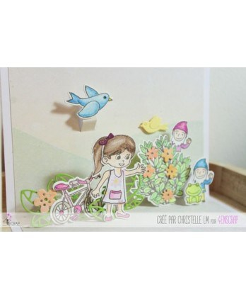Clear Stamp Die Scrapbooking  Card Making Child - The apple of our eyes