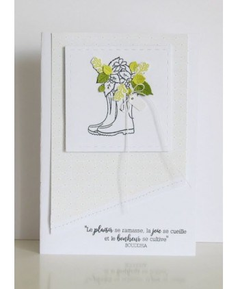 Clear stamp Scrapbooking Card Making flower foliage - Appointment to the garden