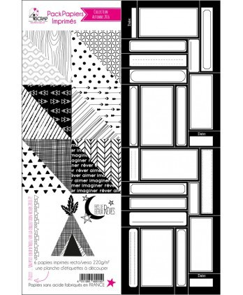 Fall 2016 Black & White Papers Pack