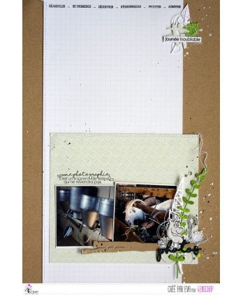 Clear stamp Scrapbooking Card photography - Capture the moment
