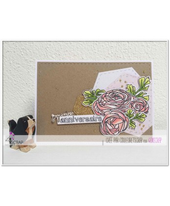Clear stamp Scrapbooking Card Making flower - Sweet fragrance of flowers