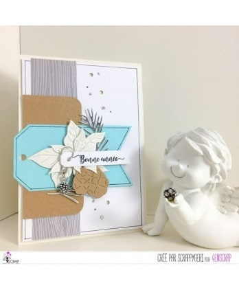 Clear stamp Scrapbooking Card Making wishes- Happy New Year