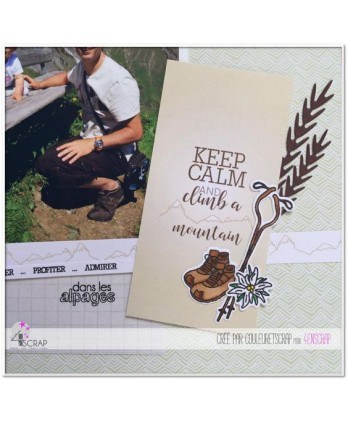 Clear stamp Scrapbooking Card Making holiday vacation - Up on the mountain