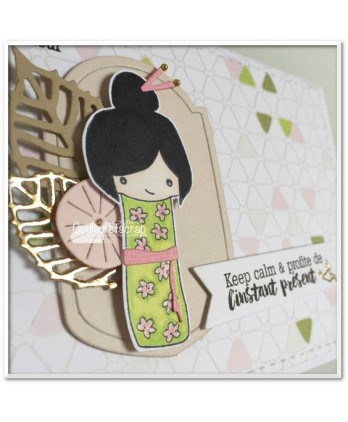 Clear Stamp Die Scrapbooking  Card Making Japan - Kokeshi