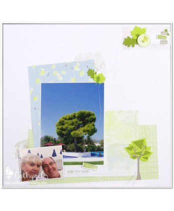 Matrice de coupe Scrapbooking Carterie nature origami - Arbres