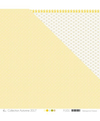 "Printed ""White & mustard peas on mustard background"""