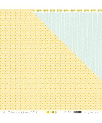 "Printed ""White  & Mustard Sashiko on Mustard Background"""