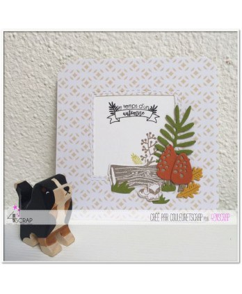 Clear stamp Scrapbooking Card Making foliage wildlife -Time of fall