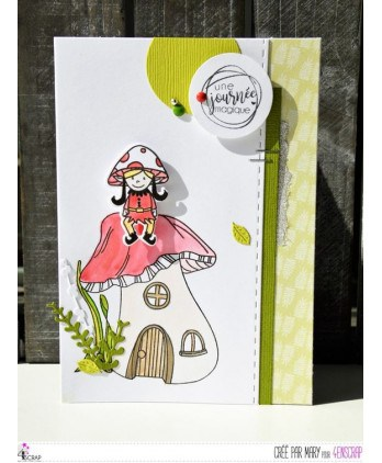 Clear stamp Scrapbooking Card Making elve fall - Magic day