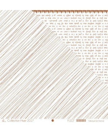 "Printed ""Entangled copper lines on white background"""