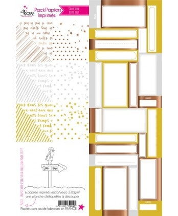 Winter 2017 Metallic Printed Papers Pack