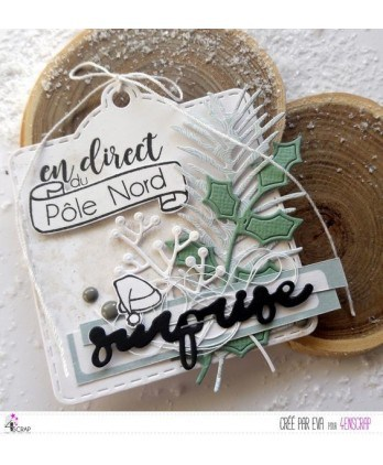 Matrices de coupe Scrapbooking Carterie feuille - Branches de houx