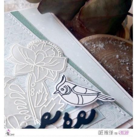 Matrice de coupe Scrapbooking Carterie oiseau hiver - Zoziaux & chapka