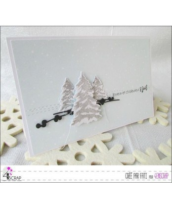 Clear Stamp Die Scrapbooking  Card Making Winter - Decorate Christmas tree