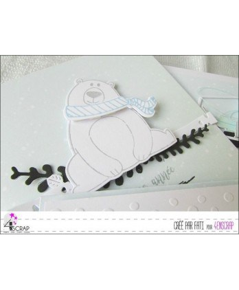 Tampon transparent Scrapbooking Carterie animal - Happy new bear