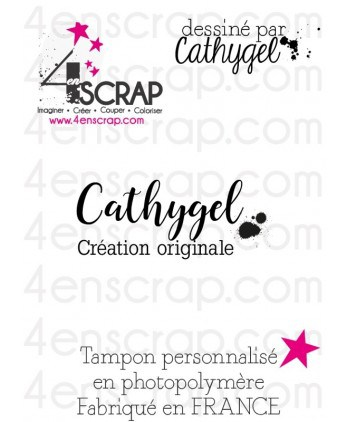 "Rubber customized stamp Scrapbooking Card Making - Signature ""Cathygel"""