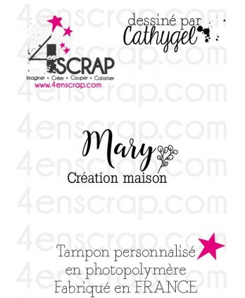 "Rubber customized stamp Scrapbooking Card Making - Signature ""Mary"""