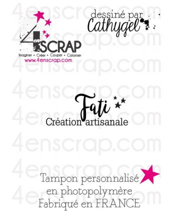 "Clear customized stamp Scrapbooking Card Making - Signature ""Fati"""