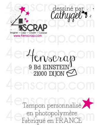"Clear customized stamp Scrapbooking Card Making - Address ""Envelope"""
