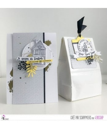 Tampon transparent Scrapbooking Carterie maison - Home Sweet Home