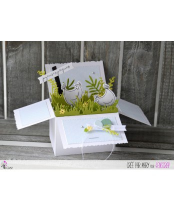 Die Scrapbooking Card box - Card pop up box