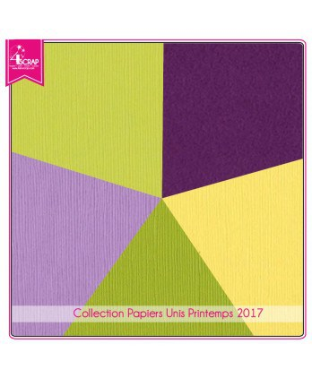 Pack Papier Uni Scrapbooking Carterie - Printemps 2017