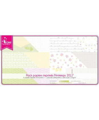 Pack Papier Imprimé Scrapbooking Carterie - Printemps 2017