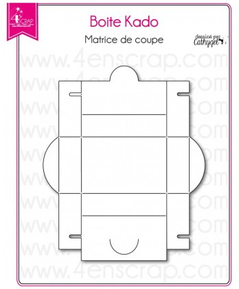 Cutting die Scrapbooking Card making rectangle - Gift box